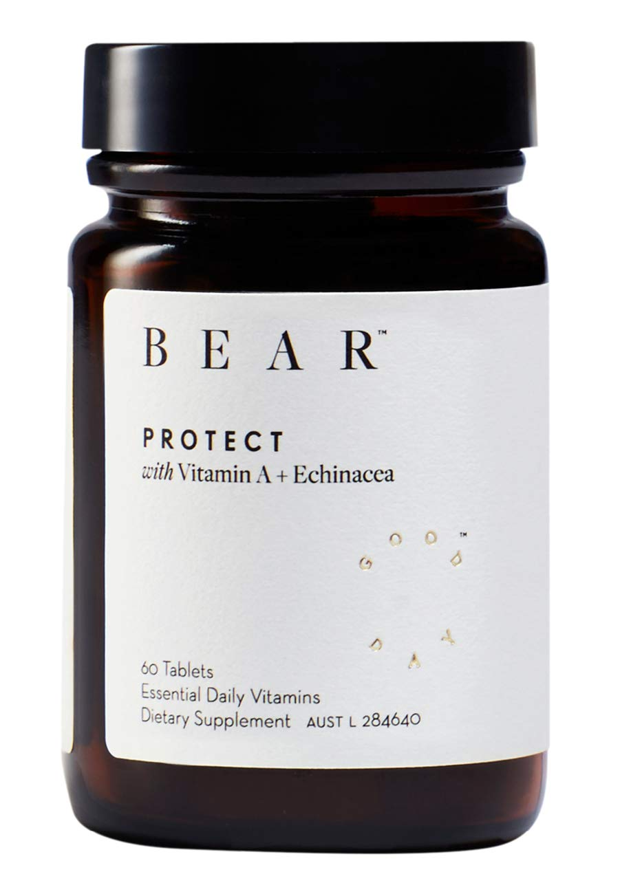 Bear Protect with Vitamin A + Echinacea (for Immunity, 60 Tablets)