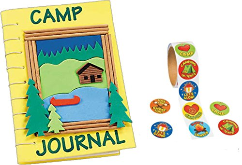 Camp Journal Foam Craft Kits (12 Kits) with a Roll of