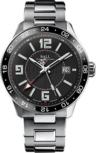 Ball Watch Engineer Master II 2nd-Time-Zone Automatic Pilot GMT Black Dial GM3090C-SAJ-BK 2nd Time Zone Black Dial