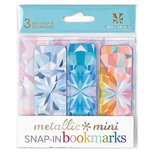 Erin Condren Designer Accessories Snap - in Mini Bookmarks Trio for Erin Condren Planners - Kaleidoscope Design Theme