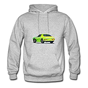 Vintage Race Car Image Style Personality And Regular Sweatshirts In Grey