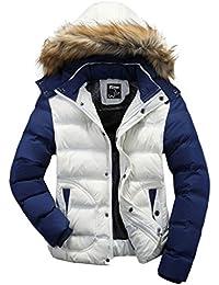 Wantdo Men's Casual Fur Hooded Outwear Jacket
