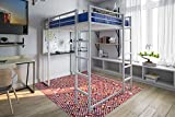 DHP Abode Full-Size Loft Bed Metal Frame with Desk, Shelves, and Ladder, Silver Review