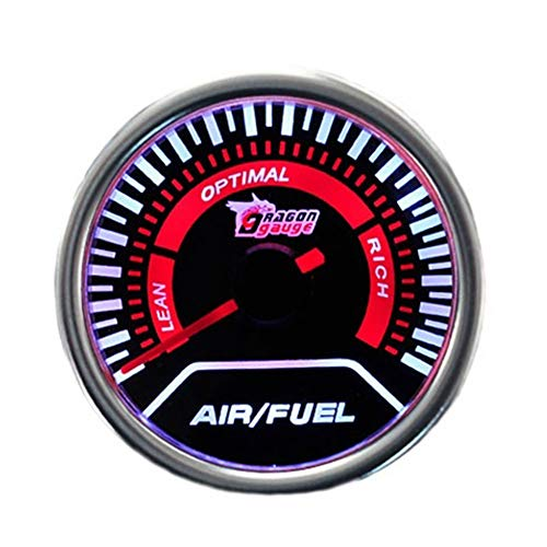 Gattop Modified Instrument Air-Fuel Ratio Gauge Universal Red Pointer 2
