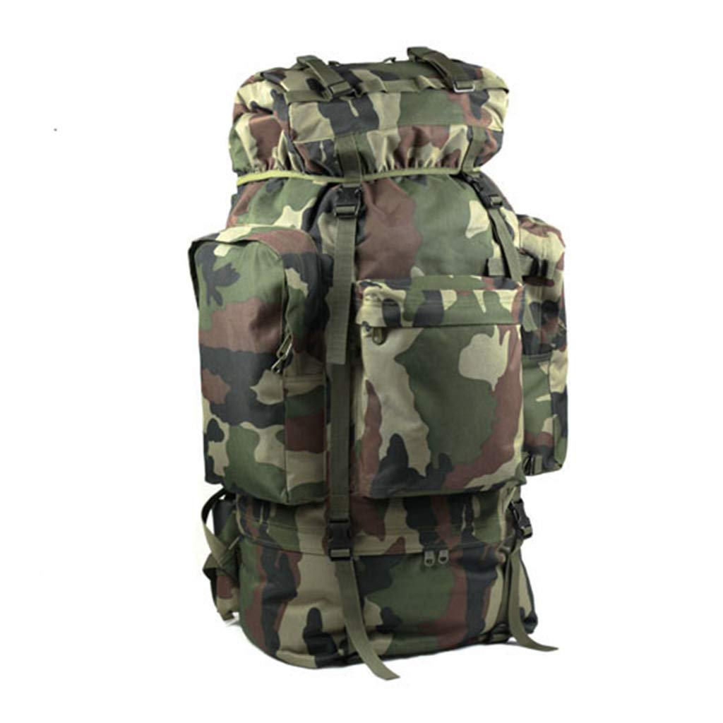 QP Mountaineering Bag - Outdoor Large Capacity 100L Backpack/Cycling Backpack/Backpack (Color : Camouflage)