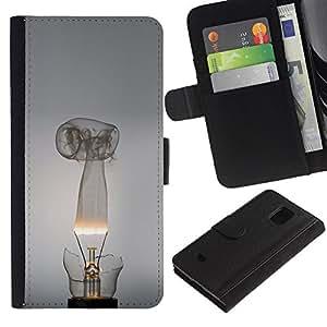 YiPhone /// Tirón de la caja Cartera de cuero con ranuras para tarjetas - Broken bombilla - Samsung Galaxy S5 Mini, SM-G800