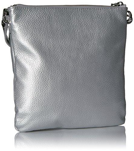Tommy Hilfiger Kira Leather Crossbody, Silver