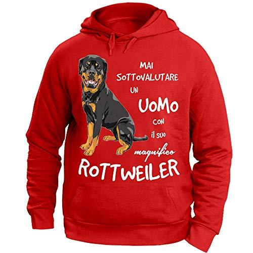 Cappuccio Rosso Rottweiler Un Con Felpa Il Suo Uomo Sottovalutare Mai 12print fEZvzqzw