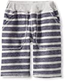 Charlie Rocket Boys 2-7 Stripe Rib Waist Short, Dust, 6 image