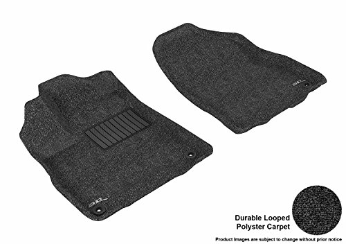 (3D MAXpider Front Row Custom Fit All-Weather Floor Mat for Select Acura MDX Models - Classic Carpet (Black))