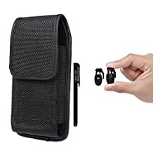 "Mobile Phone Holster,xhorizon TM SR Heavy Duty Nylon Carrying Cell Phone Case with Metal Belt Clip Holstor Pouch for iPhone6 6S(4.7"")-(fits with single layer protector/slim skin already on the phone)"