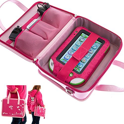 Ultimateaddons Girls Travel Vinyl PU Handbag Storage Case Leapfrog LeapPad  Ultra   Ultra XDi   Platinum (Pink)  Amazon.co.uk  Toys   Games 75086cb934ba9