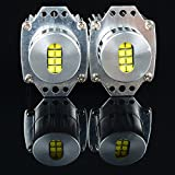 2X Super Bright 80W Xenon White 3200LM CREE LED Angel Eye Light Bulb For 06 07 08 BMW E90 E91 4D 4Dr Wagon 325i 325xi 328i 328xi 330i 335i 335xi