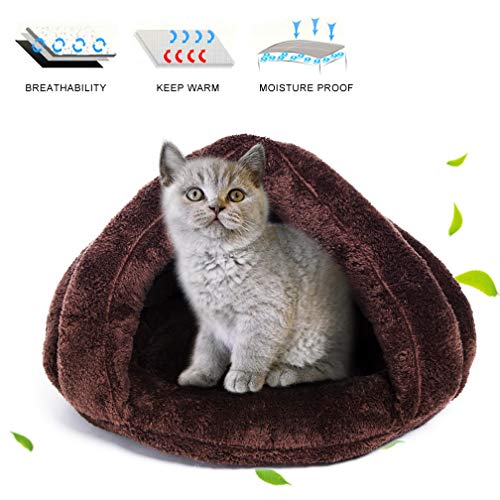 FairyMe Pet Bed Pet Bedding Cat Dog Sleeping Bag (Brown)