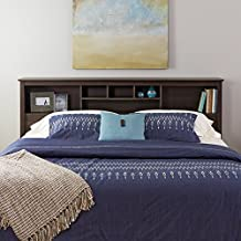 Prepac ESH-8445 King Bookcase Headboard, Espresso