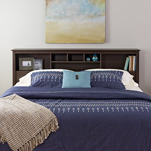 Espresso King Bookcase Headboard