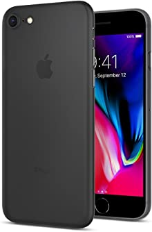 Spigen Coque iPhone 7, [Air Skin] Ultra Mince [Noir] Premium Semi-Transparent Lightweight/Exact Fit/NO Bulkiness Hard Coque pour iPhone 7 (2016) - (042CS20869)