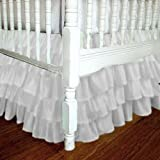 Chiffon Ruffle Standard Crib Skirt/Mini Crib/Circular Crib Skirt - many colors available