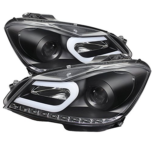 Mercedes C-class Projector (Spyder Auto (PRO-YD-MBW20412-DRL-BK) Mercedes-Benz C-Class W204 Projector Headlight)
