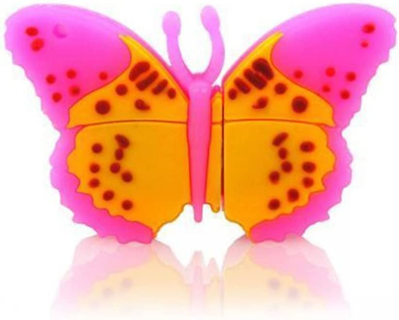 PinkYellow Butterfly 16GB USB Flash Thumb Drive Storage Device