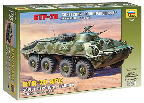 Zvezda Models BTR-70 APC Afghanistan Model Kit ()