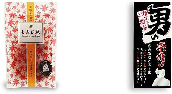 [2点セット] もみじ茶(7パック入)・男の茶漬け(4.8g×8袋)
