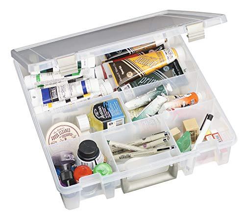 ArtBin Super Satchel-6 Fixed Divided Compartments-Translucent-9001AB