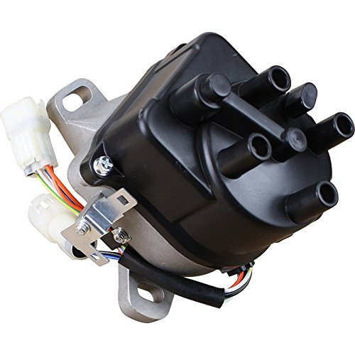 (Brand New Complete Ignition Distributor w/Cap & Rotor for 1988 1989 1990 1991 Acura Integra Honda Civic 1.6L 1st Generation JDM ZC DOHC OBD0 TD-03U 30100-PM7-046 OEM FIT DTD03)