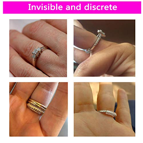 Invisible Ring Size Adjuster for Loose Rings - Ring Guard, Ring Sizer, 6 Sizes Fit Almost Any Ring. [12pcs]