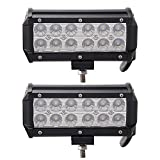 Led Light Bar, Senlips 2x7'' 36W Flood Beam Light Offroad Led Light Bar IP 67 Waterproof for Off-road Vehicle, ATV, SUV, UTV, 4WD, Jeep, Boat- Black
