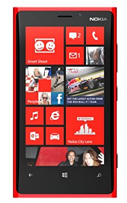 Nokia Lumia 920 32GB AT&T Locked Windows 8 OS Cell Phone - Red