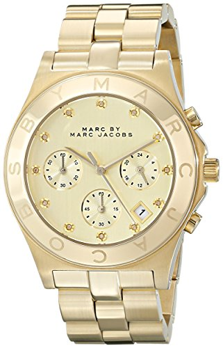 Marc by Marc Jacobs Women's MBM3101 Blade Gold-Tone Stainless Steel Watch with Link Bracelet