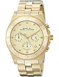 Marc by Marc Jacobs Womens MBM3101 Blade Gold-Tone Stainless Steel Watch with Link Bracelet