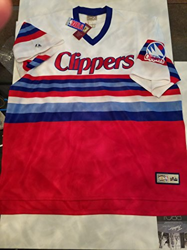 Mitchell & Ness Hardwood Classics Clippers Throwback Jersey Rare Vintage Red White Blue 4XL (Jersey Vintage Clippers)