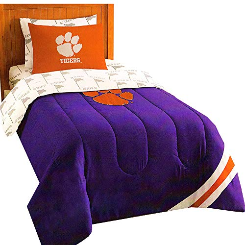 NCAA Clemson Tigers Twin Bedding Set