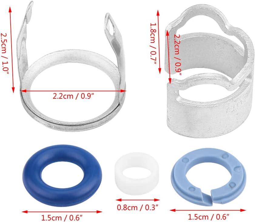Kunststoff Kraftstoffeinspritzsatz und Metalleinspritzdichtungssatz O-Ring f/ür A4 A5 A6 A8 Q7 Touareg 06E998907G