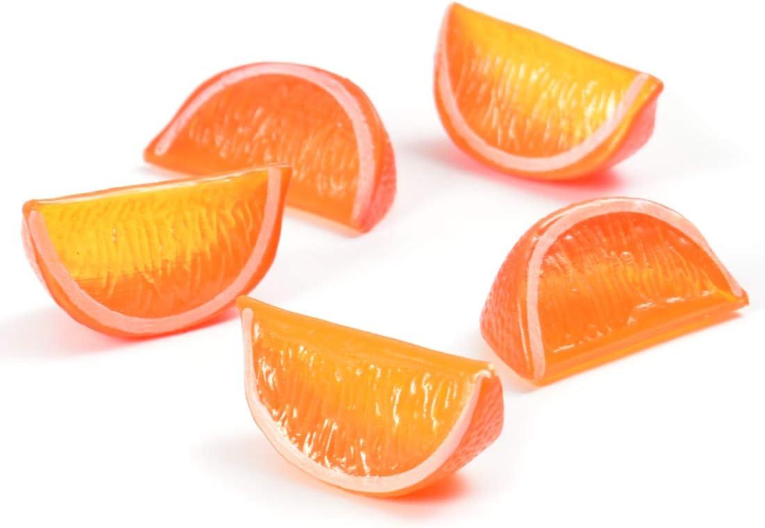Hagao Artificial Fruit Orange Lemon Block Wedge Slice Simulation Lifelike Fake for Home Party Kitchen Decoration Teaching Aids-10 pcs