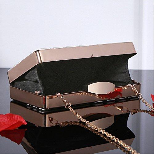 Banquet Luxe White Wallet Black Sac Color Purse Party de à de Chaîne qualité Haute Femmes à Sac rabbit Main Bandoulière Embrayage Lovely Metal Bxfawa
