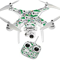 MightySkins Protective Vinyl Skin Decal for DJI Phantom 3 Standard Quadcopter Drone wrap cover sticker skins Retro Controllers 1