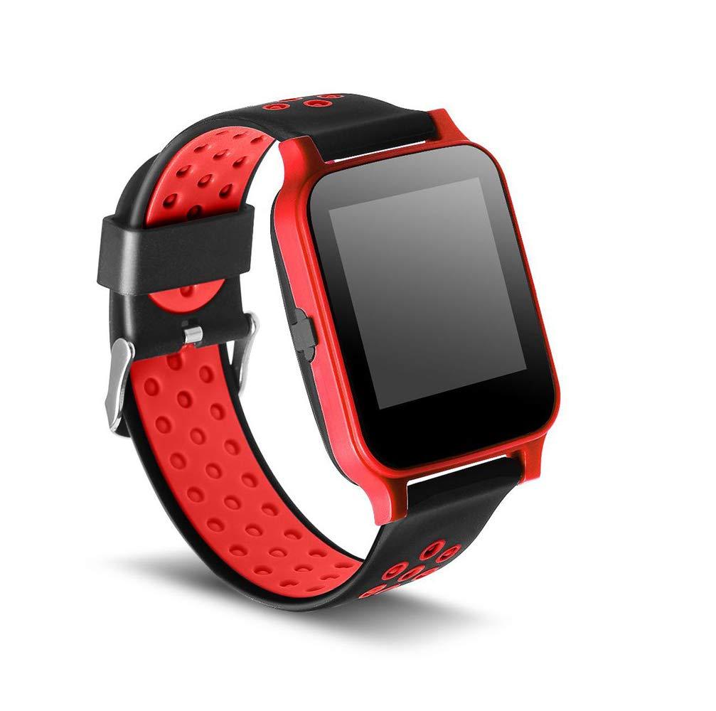 rouge  Montres Intelligente Exercices aérobiques Détection de fréquence voiturediaque étalage extérieur Sommeil Record Couleur écran Tactile bleutooth Montre Intelligente