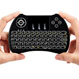 Lynec H9 Blacklit 2.4GHz Mini Wirless Touch Remote Keyboard Mouse with Touchpad for PC,iPad,Xbox 360,PS3,Raspberry Pi 3 ,Google Android TV Box,HTPC,IPTV