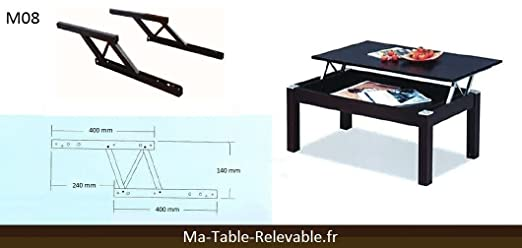 M canisme table caf relevable table de lit for Fabriquer table relevable