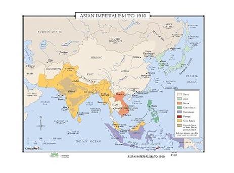 Amazon world history wall maps asian imperialism kitchen world history wall maps asian imperialism gumiabroncs Gallery