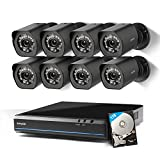 Photo : Zmodo 8CH HDMI NVR Simplified PoE Surveillance Video Security Camera System With 8x720p HD Weatherproof Cameras 1TB HD Remote Access Motion Detection