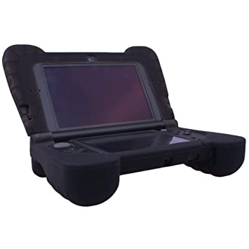 Pandaren soft silicone Protector with Hand GRIP for New 3DS XL(not for old version 3DS XL)(Black)