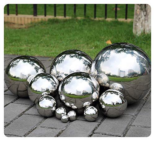 LSX Gazing Ball,300mm Hollow 304 Stainless Steel Exercise Balls Gazing Globes Floating Pond Balls Seamless Mirror Ball Sphere Gazing Balls for Gardens Home Ornament Décor