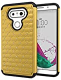 LG G5 Case, Cimo [Shockproof] Heavy Duty Shock Absorbing Hybrid Stud Rhinestone Bling Dual Layer Protection Cover for LG G5 (2016) - Gold