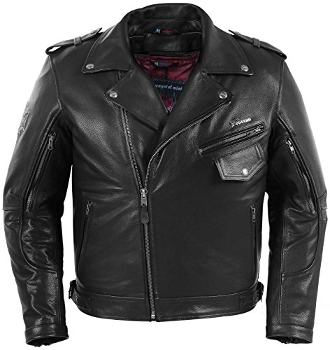 Pokerun Outlaw 2.0 Leather Jacket - Small/Black