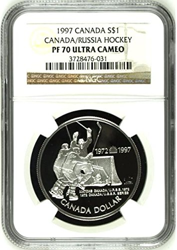 1997 CA 1997 Silver Coin $1 Canada Russia 25th Anniversar coin PF 70 Ultra Cameo NGC