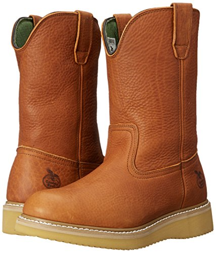 Georgia Boot Men's 12'' Wedge Wellington Work Boot,Barracuda Gold,8.5 W by Georgia (Image #6)